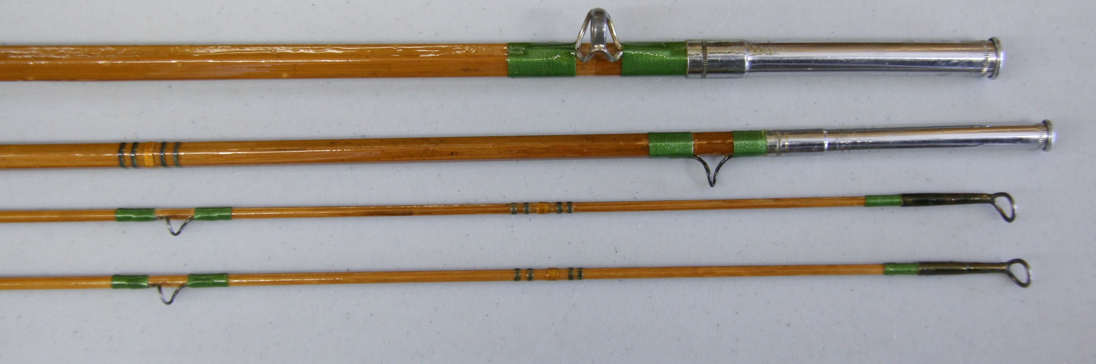 Bamboo fly rod blanks pictures to pin on pinterest pinsdaddy for Vintage fishing rod identification